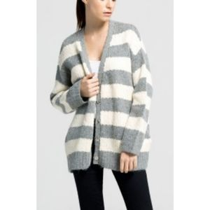ELIZABETH AND JAMES  Alpaca-Blend Striped Cardigan